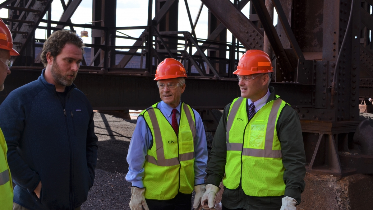 Congressman Stauber at a construction site
