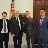 Congressman Stauber with interns